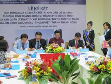 CONTRACT SIGNING CEREMONY OF 1,330 UNIT RESETTLEMENT APARMENT PROJECT